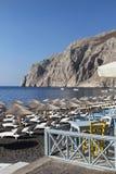 Kamari beach,Santorini Royalty Free Stock Images
