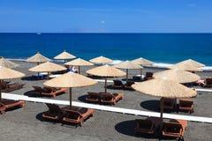 Kamari Beach Santorini Royalty Free Stock Photography