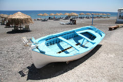 Kamari Beach, Santorini Stock Photography