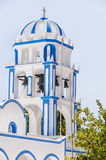 Kamari church bell tower Royalty Free Stock Images