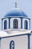Kamari church blue dome Stock Images