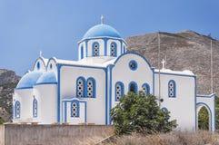 Kamari church on a hill Royalty Free Stock Photography