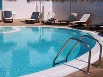 Kamari swimming pool  Stock Image