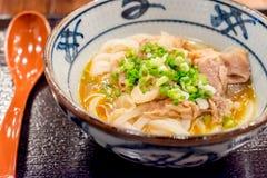 Kamatama-Udon Fotografia Stock