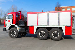 Kamaz 43253 as a Russian fire engine side view Stock Photography