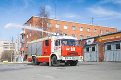 Kamaz 43253 as a Russian fire engine Royalty Free Stock Photos