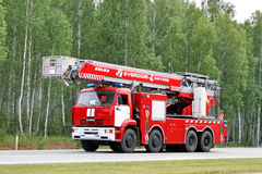 KAMAZ fire ladder Royalty Free Stock Photography