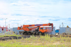 Kamaz mobile crane Stock Photo
