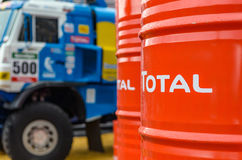 KAMAZ and TOTAL Royalty Free Stock Photography
