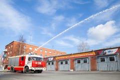 Kamaz 43253 truck as a fire engine modification Stock Photo