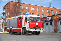 Kamaz 43253 truck as Russian fire engine Royalty Free Stock Photos