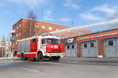 Kamaz 43253 truck as a Russian fire engine Royalty Free Stock Photo
