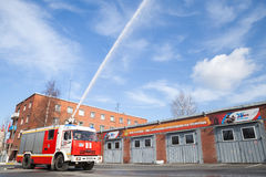 Kamaz truck 43253 as a Russian fire engine Royalty Free Stock Photo