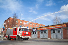 Kamaz truck 43253 as Russian fire engine Royalty Free Stock Images