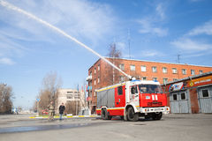Kamaz truck 43253 as Russian fire engine Royalty Free Stock Photos