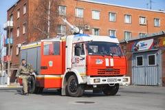 Kamaz truck 43253, Modern Russian fire engine Stock Photo