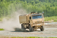Kamaz truck in motion. Russia Royalty Free Stock Photography