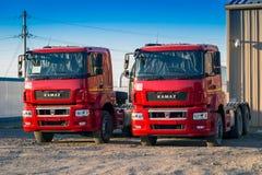 KAMAZ vermelho Foto de Stock Royalty Free