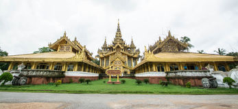 Kambawzathardi Golden Palace in Bago of Myanmar,Kanbawzathadi Palace was built by King Bayinnaung (1551-1581 A.D.) the founder of stock photography