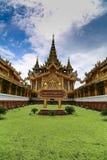 Kambawzathardi Gouden Paleis in Bago Stock Foto