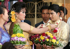 kambodżański małżeństwo Zdjęcia Royalty Free