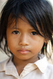 Kambodżański mała dziewczynka portret Zdjęcie Stock