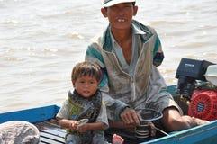 Kambodżański połów Fotografia Royalty Free
