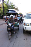Kambodżański tuktuk kierowca Fotografia Royalty Free