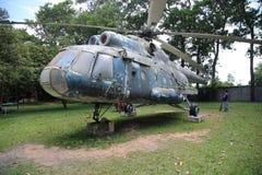 Kambodżański Wojenny muzeum - helikopter Zdjęcia Stock