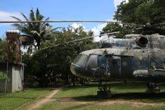 Kambodżański Wojenny muzeum - helikopter Fotografia Royalty Free