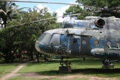 Kambodżański Wojenny muzeum - helikopter Obrazy Stock