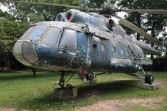 Kambodżański Wojenny muzeum - helikopter Zdjęcie Royalty Free