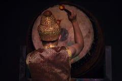 Kambodżańskich sztuk tradycyjny kulturalny taniec mówi historię Apsara i inny Zdjęcie Royalty Free