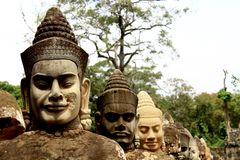 Kambodżańskie twarze zdjęcia stock
