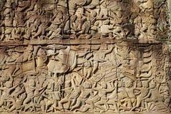 Kambodża - Antyczny Angkor Angkor Thom, Siem - Przeprowadza żniwa - Obraz Royalty Free