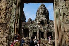 Kambodża - Antyczny Angkor Angkor Thom, Siem - Przeprowadza żniwa - Zdjęcia Stock