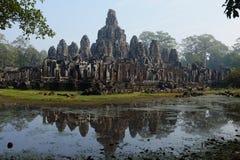 Kambodża - Antyczny Angkor Angkor Thom, Siem - Przeprowadza żniwa - Obrazy Stock