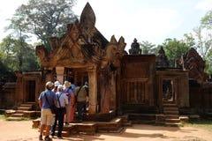 Kambodża - Antyczny Angkor Banteay Srei, Siem - Przeprowadza żniwa - Zdjęcia Royalty Free