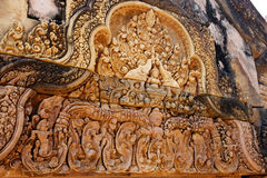 Kambodża - Antyczny Angkor Banteay Srei, Siem - Przeprowadza żniwa - obraz royalty free
