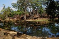 Kambodża - Antyczny Angkor Banteay Srei, Siem - Przeprowadza żniwa - Fotografia Stock