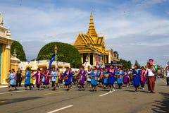 Kambodża dnia niepodległości Royal Palace srebra pagoda Obrazy Royalty Free