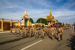 Kambodża dnia niepodległości Royal Palace srebra pagoda Fotografia Royalty Free