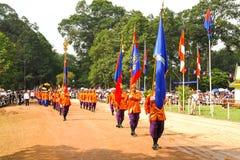 Kambodża Królewski zaorki ceremonii siem przeprowadza żniwa angkor bayon presh vihear Fotografia Stock
