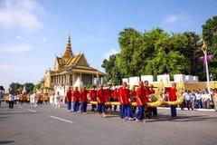 Kambodża Królewski zaorki ceremonii siem przeprowadza żniwa angkor bayon presh vihear Obrazy Stock