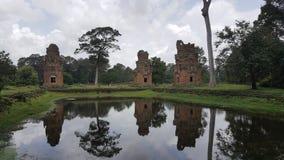 Kambodża Prasat Suor Prat Angkor Thom miasto Siem Przeprowadza żniwa miasto Siem Przeprowadza żniwa prowincję Obrazy Royalty Free