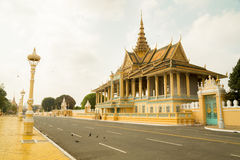 Kambodża Royal Palace, blasku księżyca pawilon Zdjęcie Royalty Free