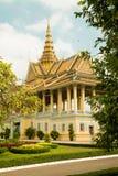 Kambodża Royal Palace, blasku księżyca pawilon Fotografia Stock