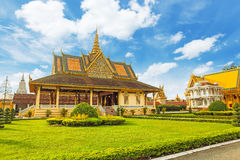 Kambodża Royal Palace khmer królewiątka miejsca królewiątka norodom sihankmony srebna pagoda Zdjęcie Stock