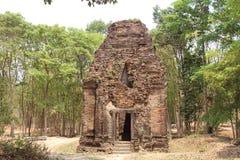 Kambodża Sambor Prei Kuk świątynia Kampong Thom prowincja Kampong Thom miasto Obraz Stock