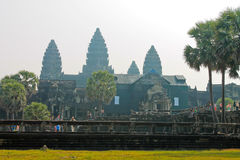 Kambodża, Styczeń 22nd, 2014, Angkor Wat Obrazy Stock